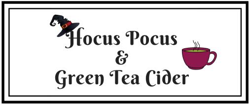 green tea cider